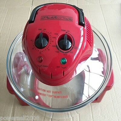 Red Plastic Newly Design Energy Saving Electrical Halogen Convection Oven Cooker