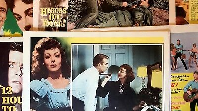 Lot Of 37 Lobby Cards Elvis Peter Falk  Cornel Wilde Barbara Eden Loretta Young