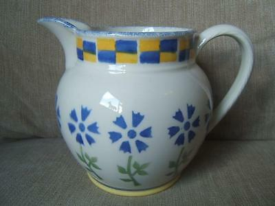 Laura Ashley ANNABEL large 2 PINT spongeware JUG floral 1993