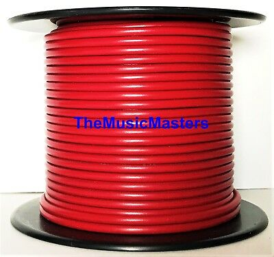 16 Gauge 100' ft Red Auto PRIMARY WIRE 12V Car Boat RV Wiring Power Remote Cable