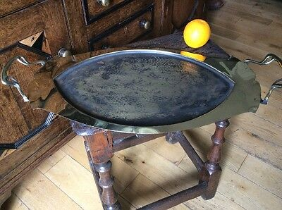Art Nouveau Arts And Crafts Brass Tray Dining Drinks Period Home