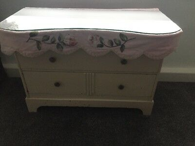Vintage French Louis Style Kidney Shaped Dressing Table Antique Retro Glass Top