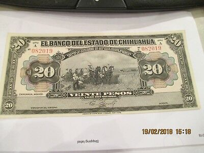 "Mexico 20 Peso""Chihuahua"" Note,PS-134"