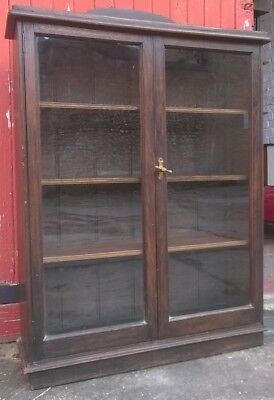 Victorian Glass Fronted Bookcase/Display Cabinet  Frederick  Sage & co London