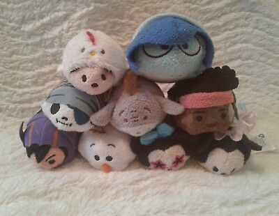 GUC DISNEY Tsum Tsum Plush Lot of 9 - Big Hero 6 Minnie Eeyore Sadness Chicken