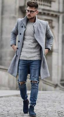 9a7cd07d BNWT ZARA MAN Light Grey Funnel Collar Coat Ref.0706/353 - $159.99 ...