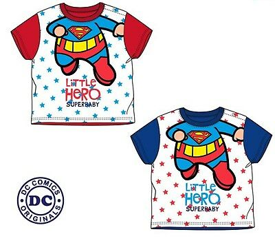 New Cute Super Baby Toddler Boy Girl  Little Hero T-Shirt Top 100% Cotton