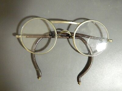Vintage Clear Round Safety Glasses w/ Leather Arms -  Steampunk Goggles