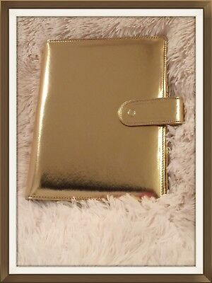 Marion Smith Heart of Gold A5 METALLIC GOLD Planner   New   HTF!
