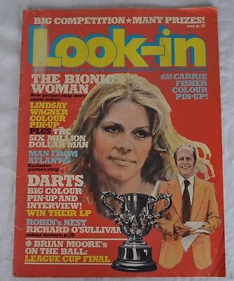 Look In Magazine. Issue 12. 18Th March 1978. Bionic Woman Carrie Fisher Free P&p