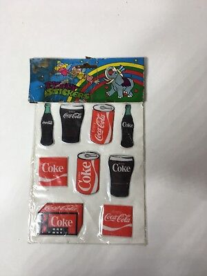 9 Coca Cola Classic Collectors  Puffy Stickers (package unopened)