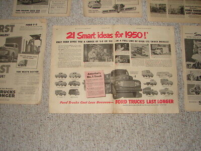 FORD TRUCK VINTAGE MAGAZINE ADS With Centerfold