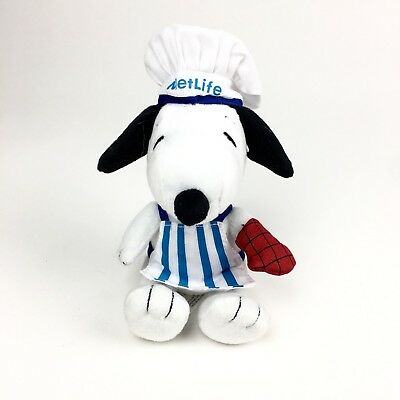 """Snoopy Metlife Insurance Collectible Plush BBQ Chef 6"""" 2014"""