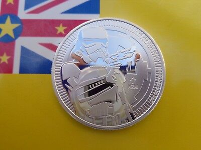 2018 Niue STORMTROOPERS Star Wars $2 coins .999 fine silver
