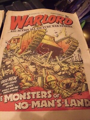WARLORD COMIC # 24  March 1975 by DC THOMSON. FREE UK POSTAGE