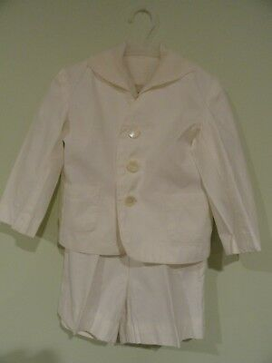 Little Boy's White Suit, 1940s, Ring Bearer, Easter Suit