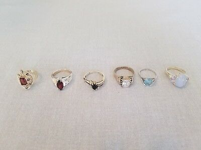 Nice Lot of Vintage Sterling Silver 925 Rings