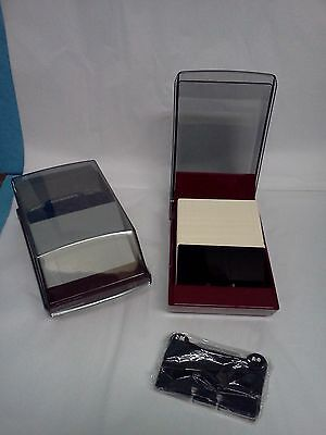 VIP-24C Rolodex Covered Business Card File, 500 2-1/4x4 Cards, A-Z -LOT OF 2