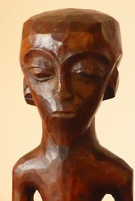 Rare Antique African Tribal Wood Carving -  Male Figure - Lovely Patina