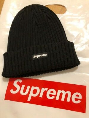 0f526033ed6 Supreme Overdyed Ribbed Beanie BLACK SS18 New In Hand 100% Authentic