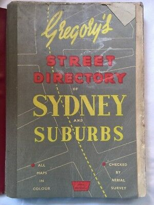 Vintage Gregory's Sydney And Suburbs Refidex Street Directory 24th Edition