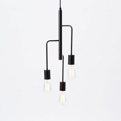 Authentic West Elm Metro Pendant Black 3 Light 129 99