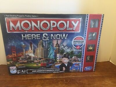 Monopoly Here & Now USA Edition NEW Factory Sealed Original HASBRO Gaming