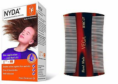 NYDA-HeadLice Treatment for HairCare(A Spray Eradicate HeadLice egg)+Lice Comb