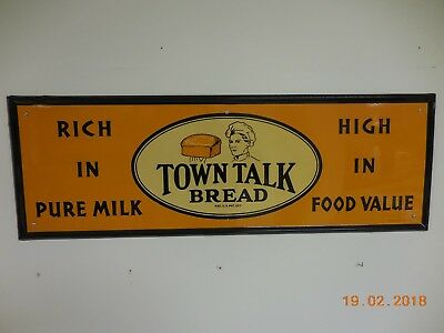 Vintage 1938 Town Talk Bread Sign