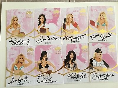 2012 Benchwarmer Autograph Card National Set Of #8 Cards
