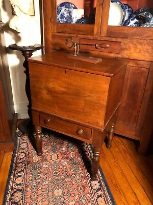 Circa 1820 Kentucky Cherry Sugar Chest with Divider, Dovetailed Case and Drawer.