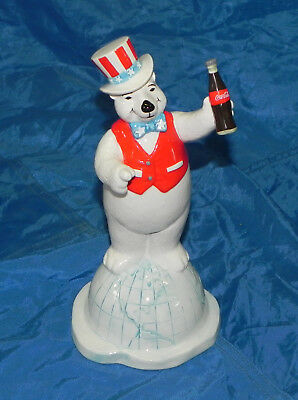 Collectable Coca Cola Polar Bears around the World Bank  Enesco. With box