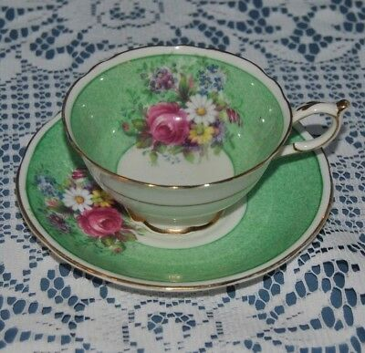 Rare Circa 1939-49 Paragon, Chintz Floral Bouquet, Bone China, Tea Cup & Saucer