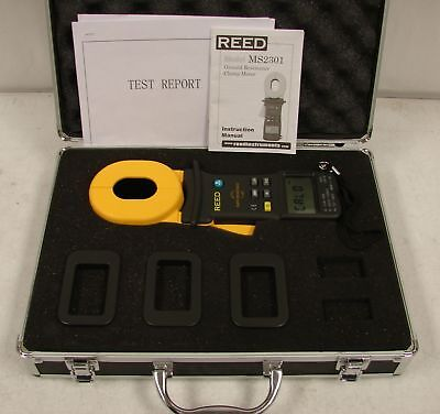 Reed MS2301 Ground Resistant Digital Clamp Meter w/ Test Report & Case