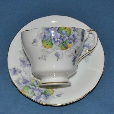 "Beautiful Very Rare Circa 1932 PARAGON, ""Violetta"" Bone China Tea Cup And Saucer"