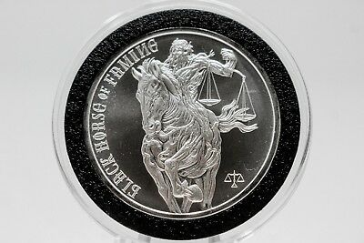Black Horse of Famine 1 oz Silver Round | Four Horsemen of the Apocalypse