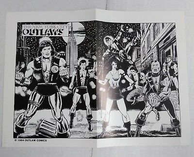 New York City Outlaws black and white promo poster (Outaw Comics 1984)
