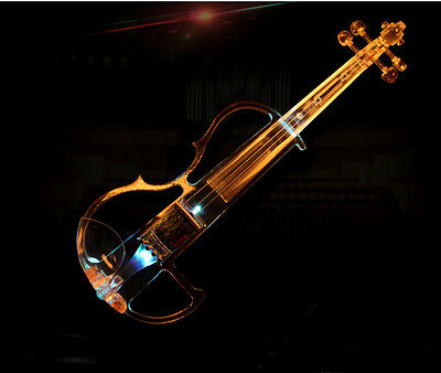 High-end Acrylic+LED Beginners Preferred Work Musical Instrument Violin #