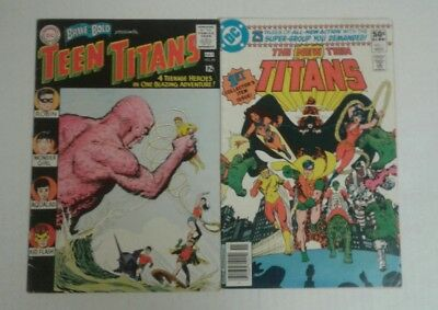 Brave and the Bold 60, VG, 1st Wonder Girl, New Teen Titans 1, VG+, 1st Prints