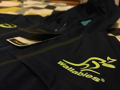 BNWT Wallabies Player Issue Side Liner Jacket Zip Up Australia Rugby Sideline