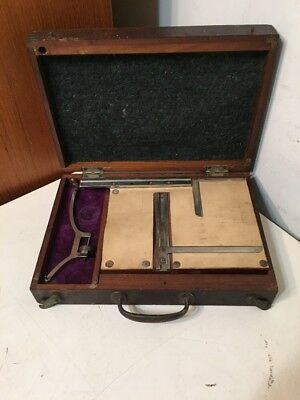 Rare Antique Ashcroft Mfg Planimeter In Original Box Engineering Survey Tool