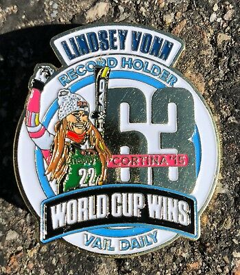 Olympic Pins 2018 PyeongChang Lindsey Vonn - Special Edition Record Wins Pin