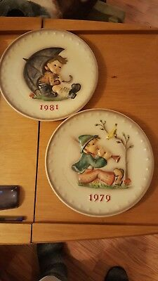 Lot of 2  M.J.Hummel Annual Plates 1979 and 1981 exc. cond. NO Boxes.