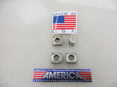"7/16""-14 Square Nuts , Steel Zinc Plated U.S.A. ( 50 Pcs. ) New Old Stock"