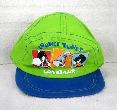 Baby Looney Tunes BUGS, DAFFY and SYLVESTER Green Hat