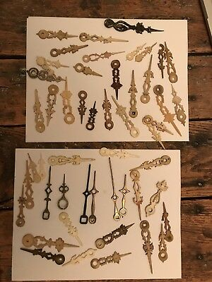 Lot Of Antique Black Forest Cuckoo Clock Hands Bone And Brass