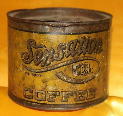 H D Lee Sensation Steel Cut Coffee 1 lb Tin Can