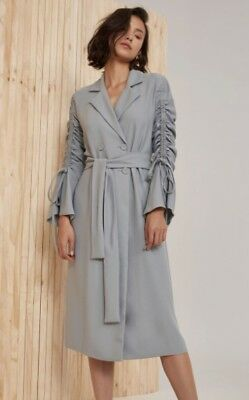 NEW Women's Coats Right Kind Of Madness Trench Seafoam By C/Meo Collective