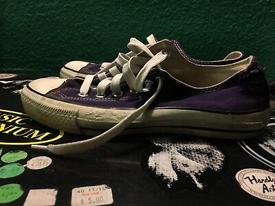Vintage 80s Converse Chuck Taylor 7.5 Low Tops Made In USA Purple