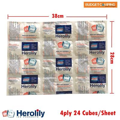 Herolily Ice Packs 24 cubes per sheet 3pcs - Commercial or Home Cooling Ice Bloc